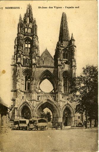 Soissons - Saint-Jean-des-Vignes - Façade Sud_0