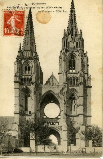 Soissons - Abbaye Saint-Jean-des-Vignes (XIVe siècle) - Les Flèches - Coté Est_0