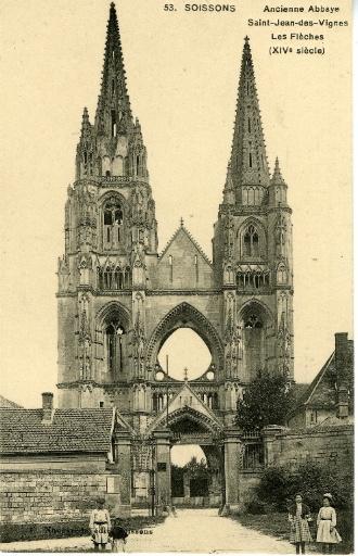 Soissons - Ancienne Abbaye Saint-Jean-des-Vignes - Les Flèches (XIVe siècle)_0