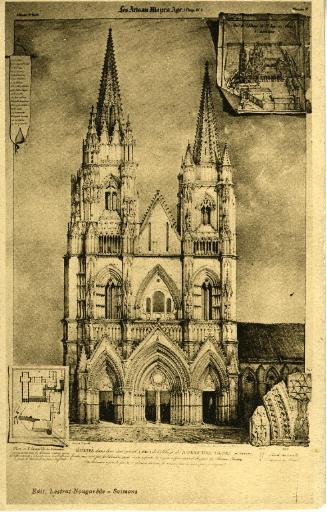 Soissons - Le portail de Saint-Jean-des-Vignes en 1840
