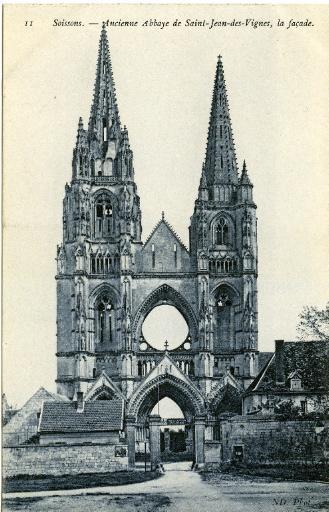 Soissons - Ancienne Abbaye de Saint-Jean-des-Vignes, la façade