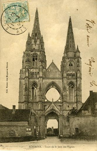 Soissons - Tours de Saint-Jean-des-Vignes