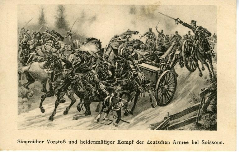 Siegreicher Vorstos und heldenmütiger Kampf der deutschen Armee bei Soissons