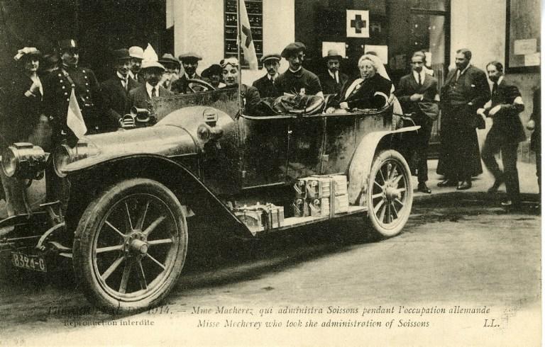 1914 - Mme Macherez qui administra Soissons pendant l'occupation allemande