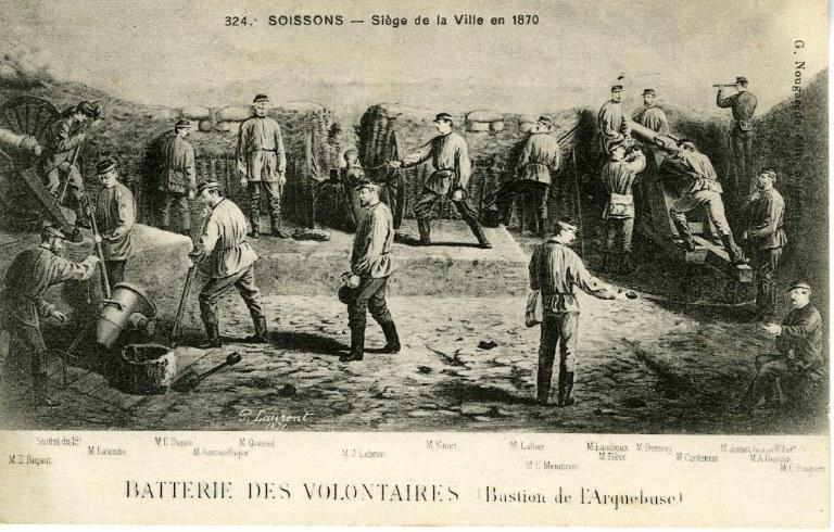 Soissons - Siège de la ville en 1870_0