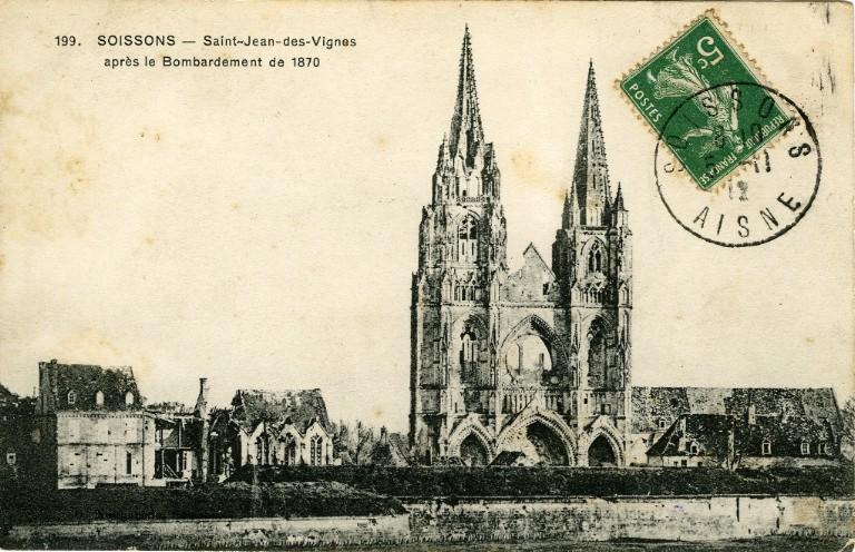 Soissons - Saint-Jean-des-Vignes après le Bombardement de 1870_0