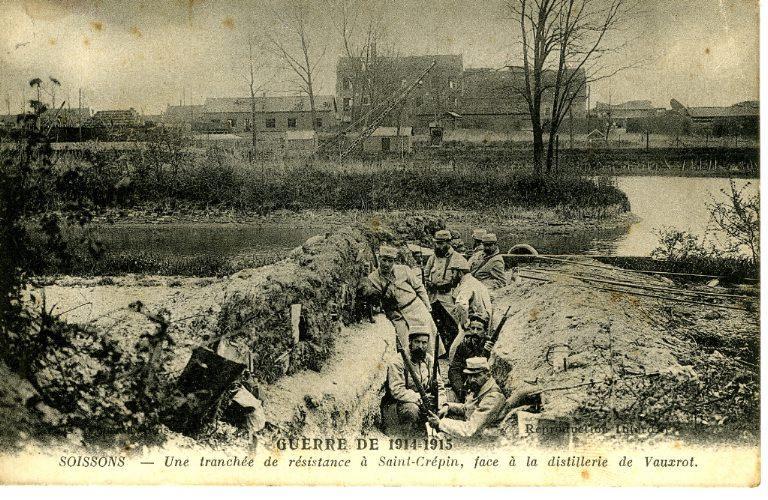 Guerre de 1914-1915 - Soissons - Une tranchée de résistance à Saint-Crépin, face à la distillerie de Vauxrot_0