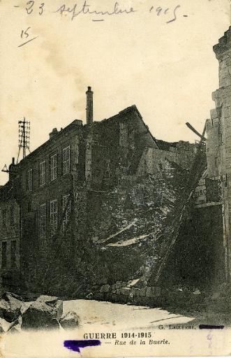 Guerre de 1914-1915 - Soissons - Rue de la Buerie_0
