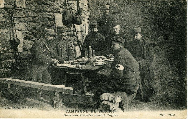 Campagne de 1914-1915 - Dans une Carrière devant Cuffies_0