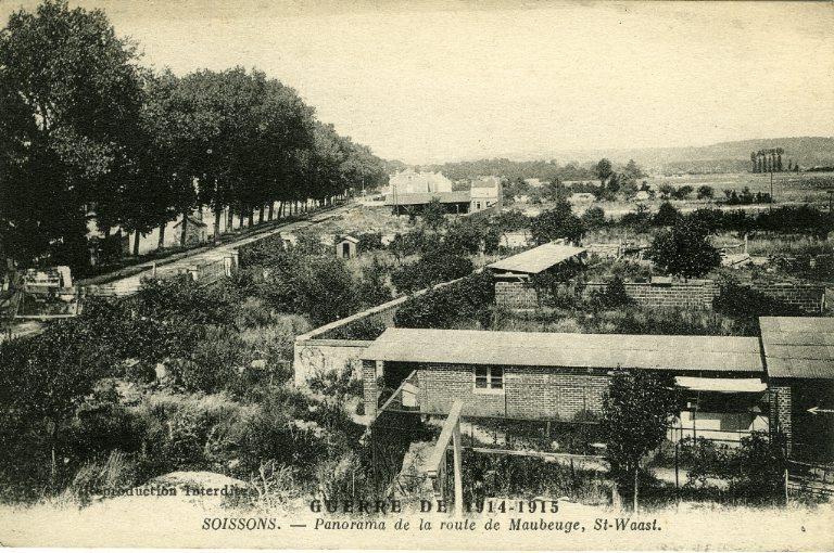 Guerre 1914-1915 - Soissons - Panorama de la route de Maubeuge, Saint-Waast_0