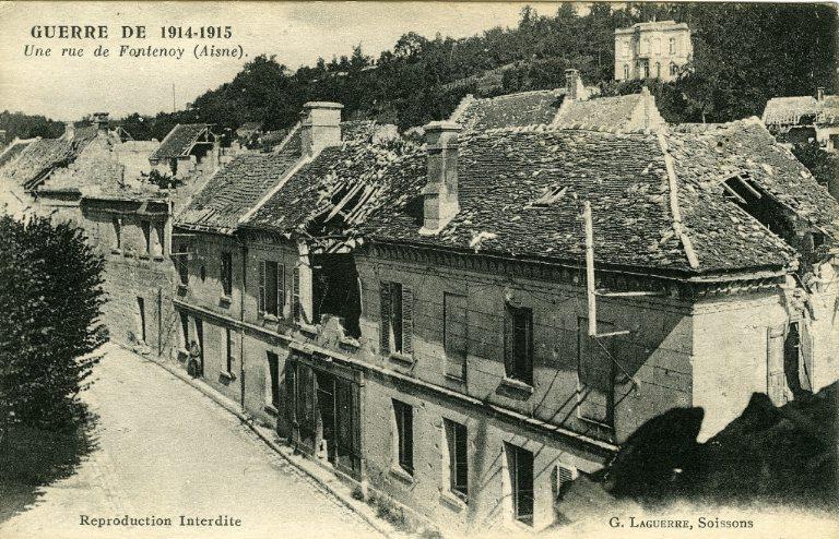 Guerre 1914-1915 - Une rue de Fontenoy (Aisne)_0