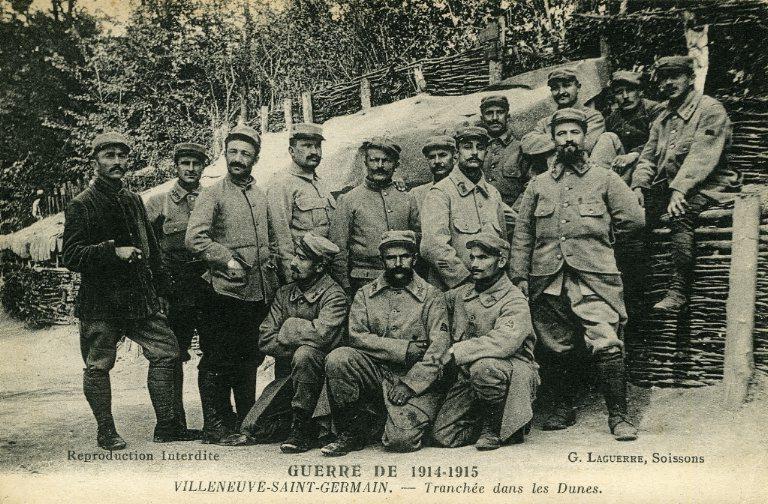 La grande guerre 1914-1915 - Villeneuve-Saint-Germain - Tranchée dans les dunes_0