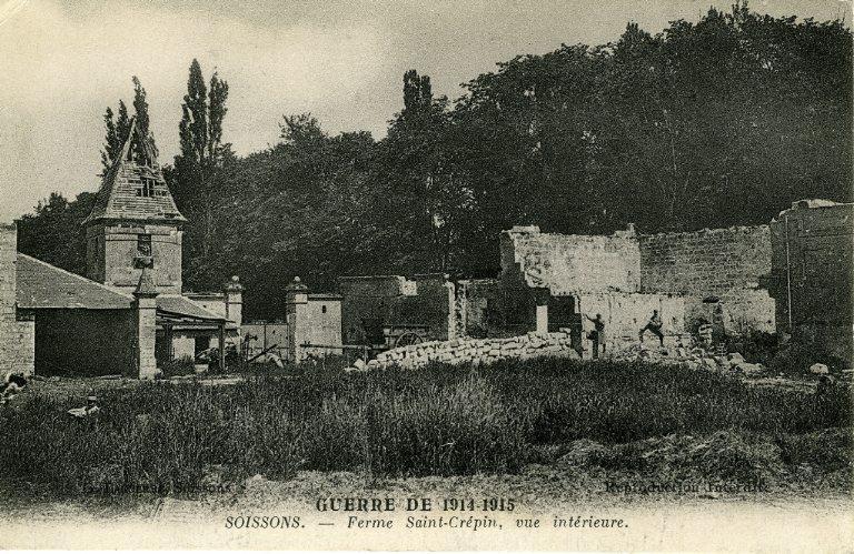 La grande guerre 1914-1915 - Ferme de Saint-Crépin, vue intérieure_0