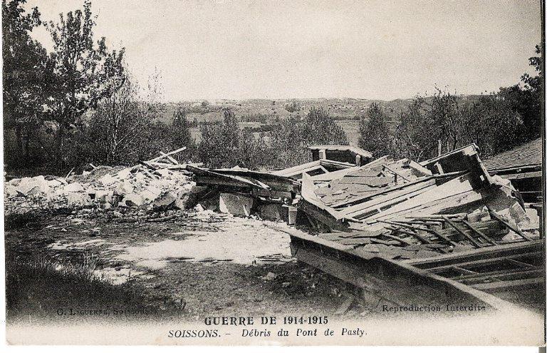 La grande guerre 1914-1915 - Débris du pont de Pasly_0