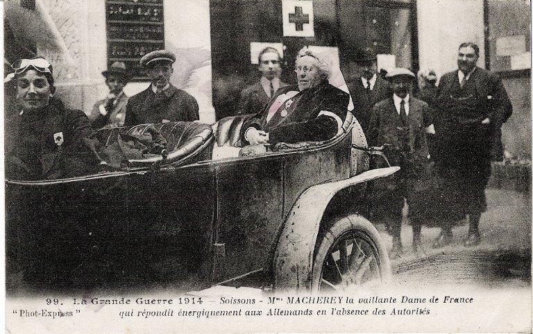 La grande guerre 1914 - Soissons - Mme Macherey - La vaillante dame de France qui repondit energiquement aux allemands en l'absence des autorités_0