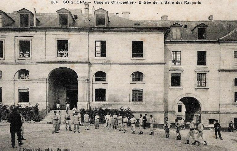 Soissons - Caserne Charpentier - Entrée de la Salle des Rapports_0
