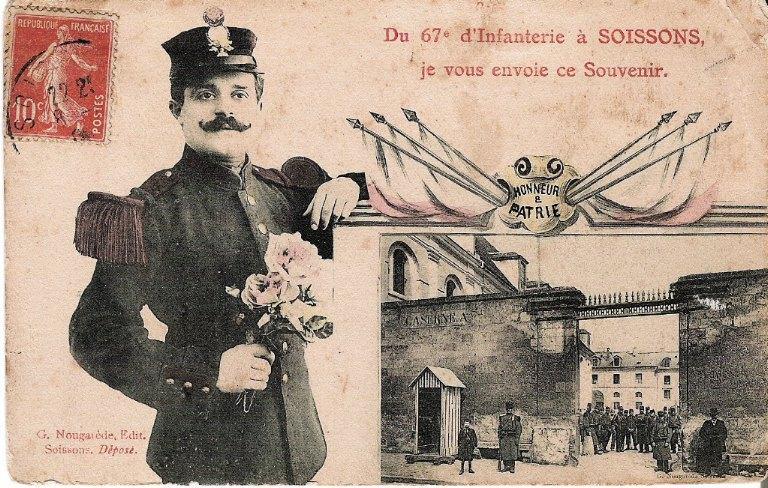 Soissons - Du 67e d'Infanterie à Soissons, je vous envoie ce Souvenir_0