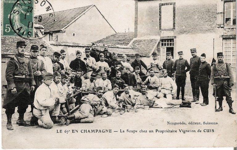 Soissons - Le 67e en Champagne - La Soupe chez un Propriétaire Vigneron de CUIS_0