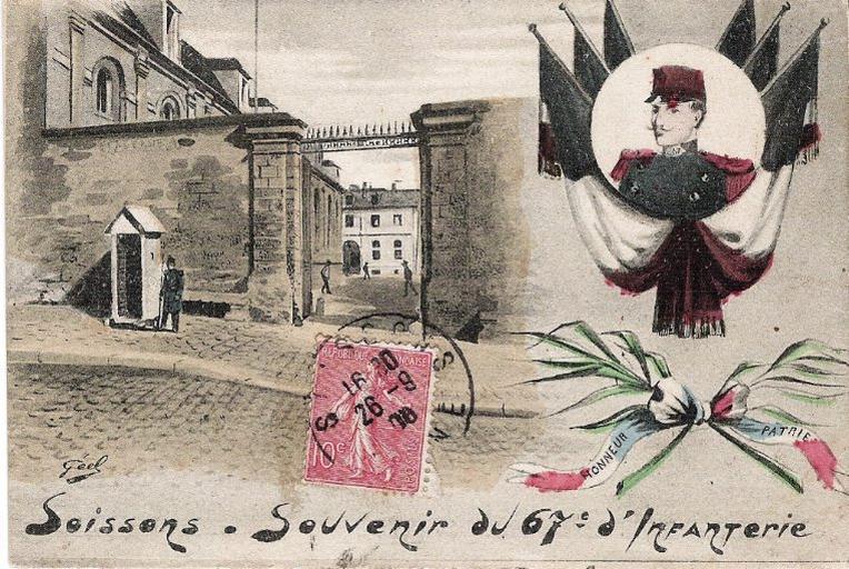 Soissons - Souvenir du 67e d'Infanterie_0