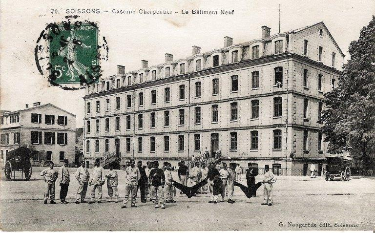 Soissons - Caserne Charpentier - Le Bâtiment Neuf