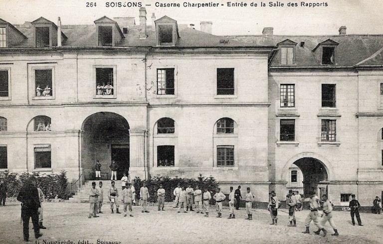 Soissons - Caserne Charpentier - Entrée de la Salle des Rapports