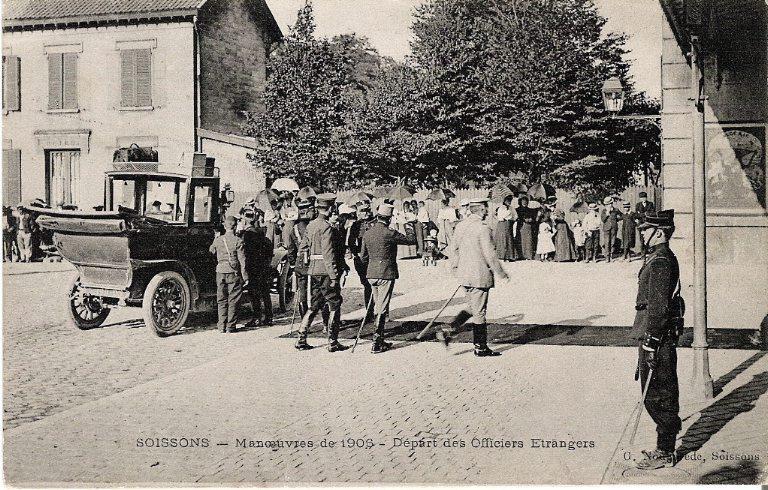 Soissons - Manoeuvres de 1906 - Départ des Officiers étrangers_0