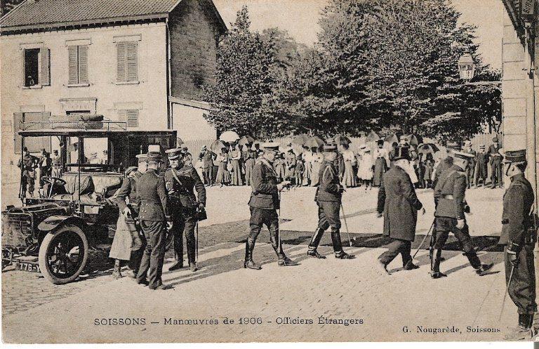 Soissons - Manoeuvres de 1906 - Officiers étrangers_0