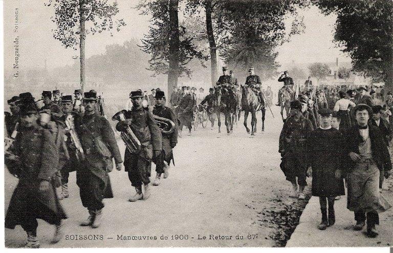 Soissons - Manoeuvres de 1906 - Le Retour du 67e_0