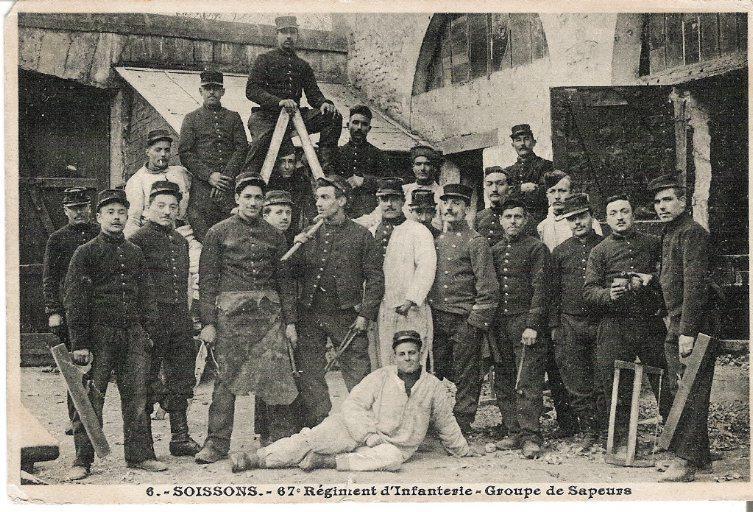 Soissons - 67e Régiment d'Infanterie - Groupe de sapeurs