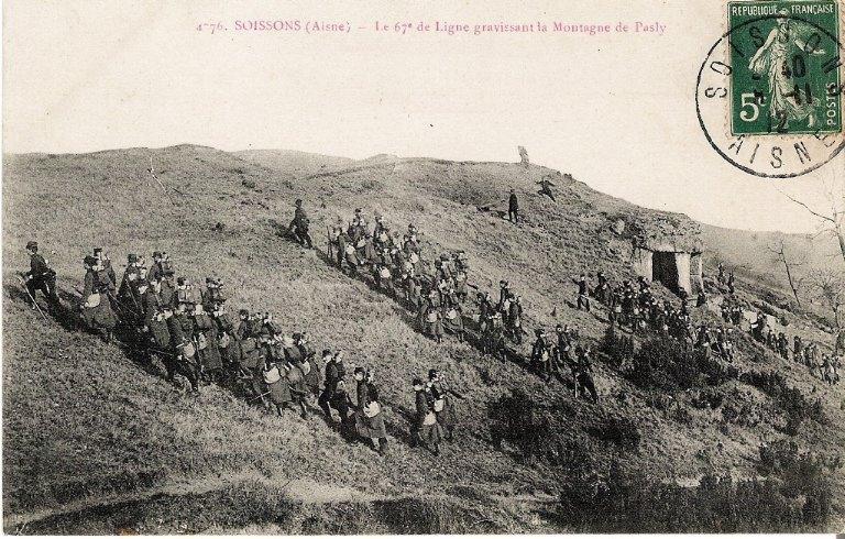 Soissons - Le 67e de Ligne gravissant la Montagne de Pasly_0