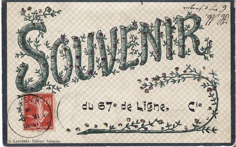 Soissons - Souvenir du 67e de ligne, ...... Cie_0