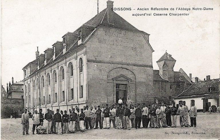 Soissons - Ancien Réfectoire de l'Abbaye Notre-Dame aujourd'hui Caserne Charpentier_0