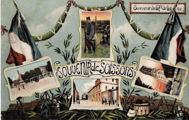 Soissons - Souvenir du 67e de ligne