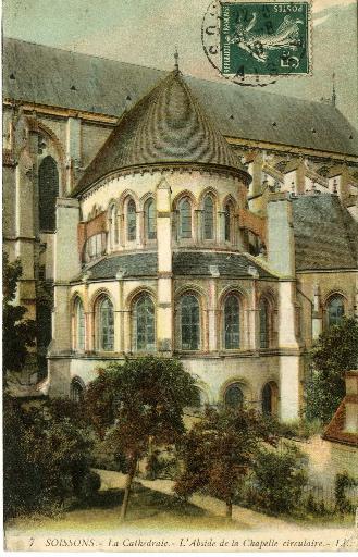 Soissons - La cathédrale - L'Abside de la Chapelle circulaire_0
