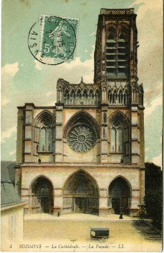 Soissons - La Cathédrale - La Façade