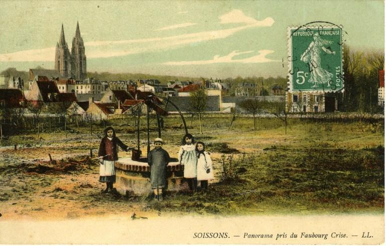Soissons - Panorama pris du Faubourg de Crise