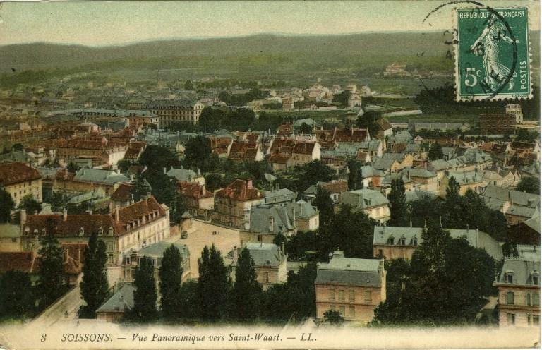 Soissons - Vue panoramique vers Saint-Waast