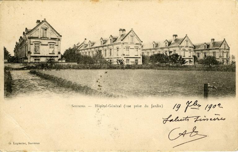 Soissons - Hôpital-Général (vue prise du Jardin)_0