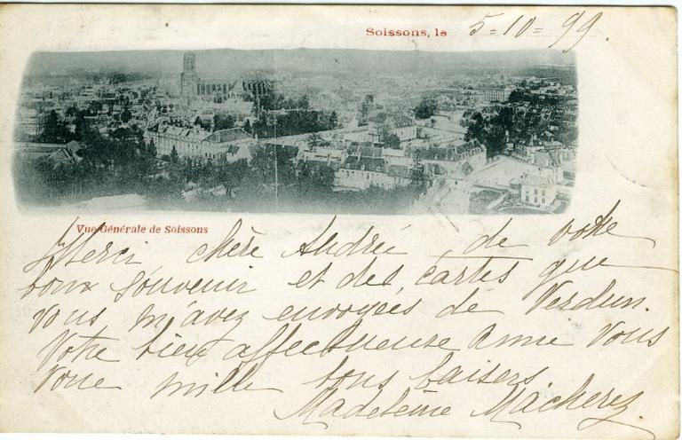 Vue générale de Soissons