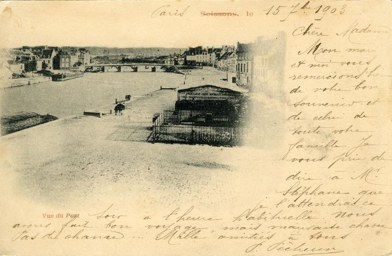 Soissons - Vue du pont_0