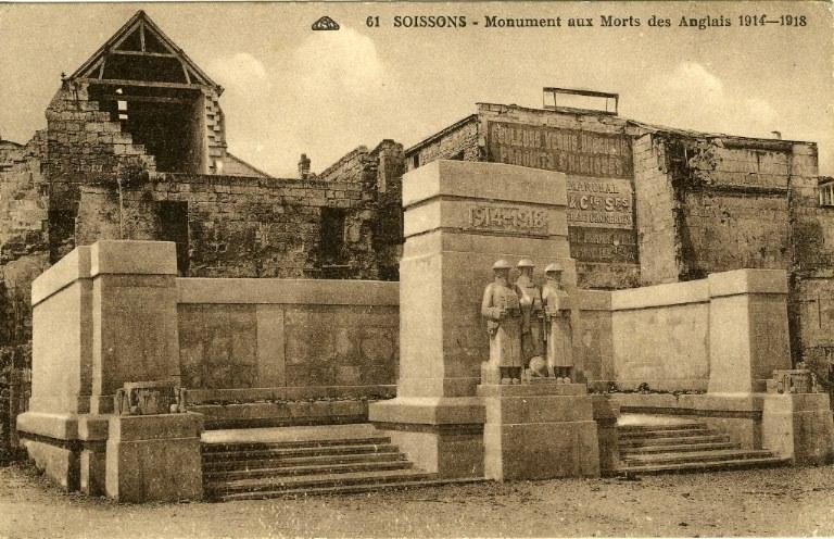 Soissons - Monument aux Morts des Anglais 1914-1918