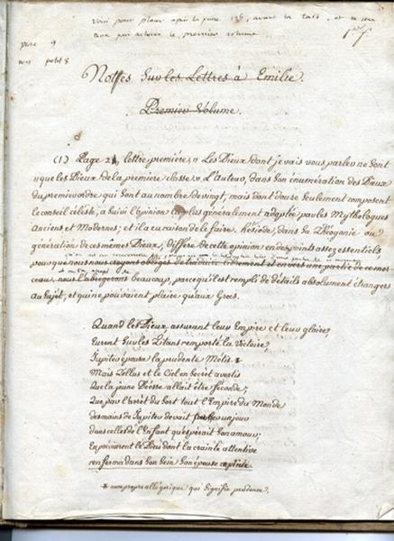 Notes sur les 'Lettres à Émilie'