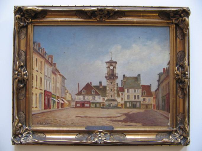 Place de la tour de l'horloge à Villers-Cotterêts