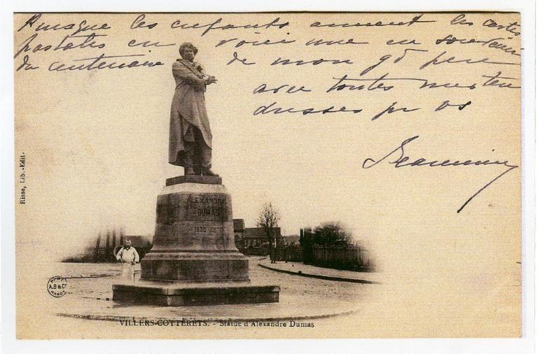 Plume originale de la statue d'Alexandre Dumas en bronze