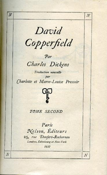 David Copperfield. Tome II