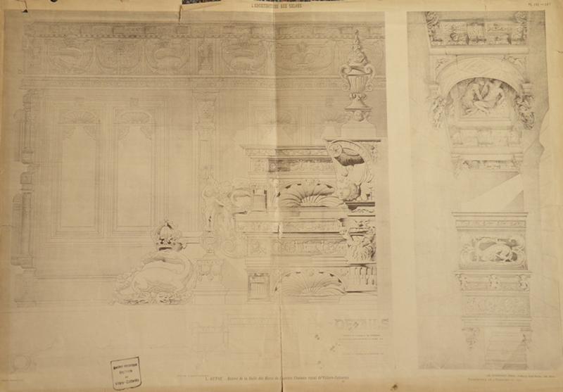 Relevé de la Salle des Etats de l'ancien Château Royal