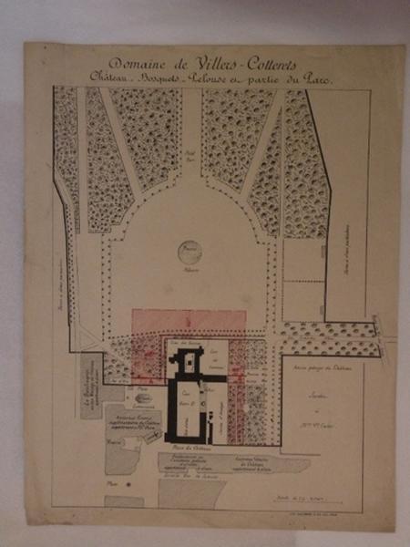 Domaine de Villers-Cotterêts. Château. - Bosquets. - Pelouse et - partie du Parc_0