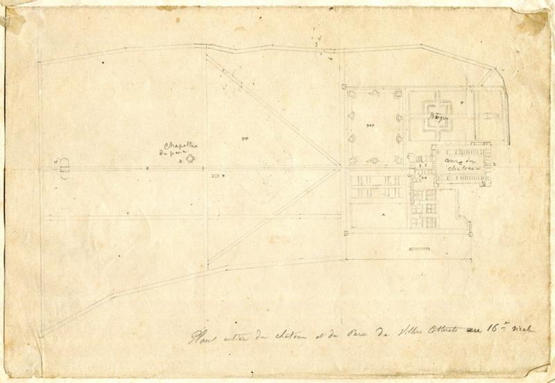 Plan entier du château et du Parc de Villers-Cotterêts au 16e siècle_0