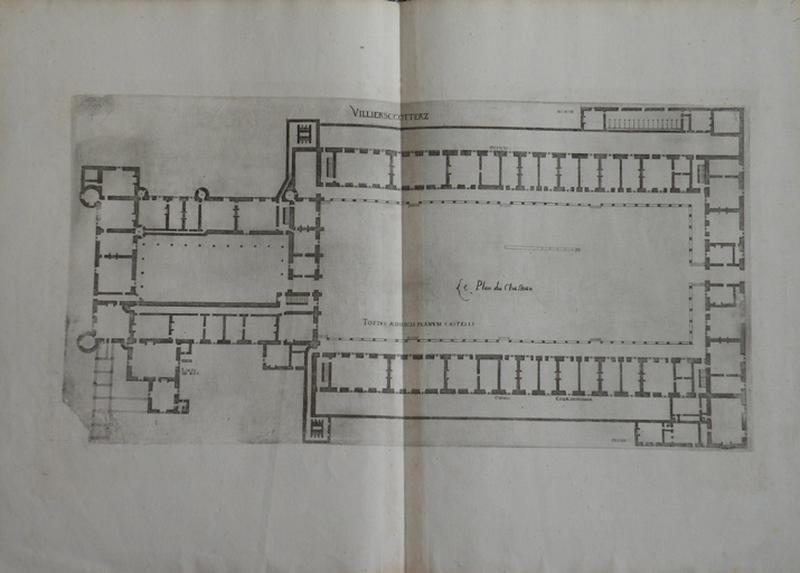 Villiers Cotteretz. Le plan du château_0
