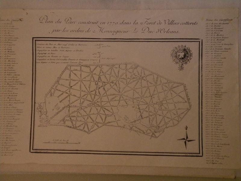 Plan du Parc construit en 1770 dans la Forêt de Villers Cotterêts_0